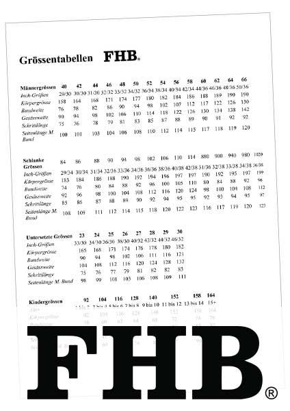 Größentabelle FHB als PDF